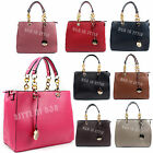 Women Designer Faux Leather Style Chain Shoulder Bag Ladies Tote Satchel Handbag