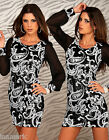 402 EVENING COCKTAIL CHRISTMAS PARTY LONG LACE SLEEVE DRESS/TUNIC UK 8 - 14