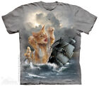 Krakitten T-Shirt by The Mountain. Fantasy Cats Sizes S-5XL NEW