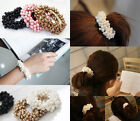 Fashion Women Lady Girl Pearls Beads Hair Band Rope Scrunchie Ponytail Holder