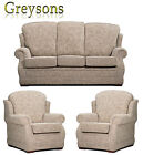 NEW WINDSOR HIGH BACK FABRIC SOFA SETTEE / 3 PIECE SUITE / 3 SEATER / ARMCHAIR