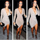 New Arrival! Women's Autumn Spring V Neck Super Sexy Long Sleeve Bodycon Dress