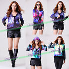 Fashion Womens Digital Galaxy Space Long Sleeve Hoodie Sweatshirt Jacket Coats