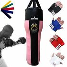 TurnerMAX Angled Punch Bag Uppercut Bag Boxing Bag Heavy Punchbag Pink Black