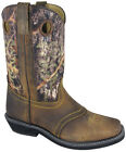 Womens Smoky Mountain Pawnee Western Boots Brown Oil Distress/Camo Medium 6360