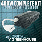400 watt DIGITAL GROW LIGHT Kit 400w HPS w BALLAST BULB HOOD Sodium Halide MH
