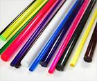 COLOURED Acrylic Rod Perspex Bar 15mm 20mm Diameter Red Blue Green Yellow