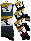 3 Mens Stay-Up Diabetic Non Elastic Cotton Rich Wider Loose Top Socks / UK 6-11