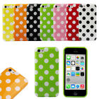 1PC Hot Colorful Polka Dot Pattern Soft Case Cover Skin For iPhone 5C Tide New