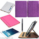 PU Leather Wallet Flip Stand Case Pouch Smart Cover + Film + Pen for iPad Air 2
