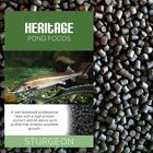Heritage Sturgeon Sterlet Fish Food Pellets Premium Sinking Pond Feed Tench 6MM
