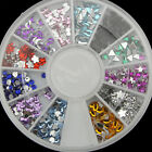 Sail Nice Nail Art Acrylic Glitters Tips Decoration Manicure Bead Wheel Gem