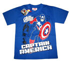 AVENGERS CAPTAIN AMERICA boys cotton t-shirt Sz 6,8,10,12 Age 4-9 yr Free Ship