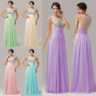 New WIth Beaded Long Bridesmaid Cocktail Evening Gown Prom Party Wedding Dresses