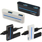 Tide Backlight Super Speed Rotate USB 3.0 Hub 4 Port Adapter For Computer 5Gb/S