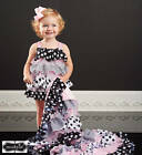 Mud Pie Bella Polka Dot Ruffle Bubble  0-6M, 6-9M, 9-12M
