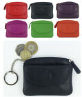 Primehide Leather Small  Zipped Coin Card Key Purse with Front Flap in 6 colours