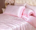 2 pcs 19MM Silk Pillow Shams Jacquard Silk Pillowcases Standard Queen King