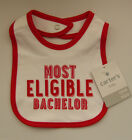 Kyпить CARTERS BABY BOY VALENTINE'S DAY MOST ELIGIBLE BACHELOR BIB DROOL TEETHING CLOTH на еВаy.соm