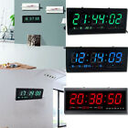 Digital Large Big Jumbo LED Wall Desk Clock With Calendar Temperature US STOCK!