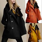 2015 Stylish Women Slim Wool Trench Warm Coat Double Breasted Jacket Outwear