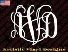 Monogram custom vinyl decal sticker for wall car laptop phones many colors/sizes
