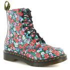 Dr Martens Pascal Wild Poppy 8 Eyelet Womens Leather Boots - Floral Print