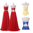 PLUS SIZE SEQUINS Long Bridesmaid Formal Quinceanera Evening Party Prom Dresses