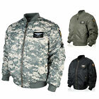 Mens Premium U.S AIR FORCE Pilot Flight Jacket Jumper Coat Top-D-001 L/XL/2XL
