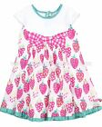 Deux par Deux Dress with Bow Strawberry Field, Sizes 24M, 3, 4