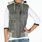 New Womens Designer Voi Jeans Ladies Glaze Coat Gilet Jacket Grey