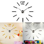 Luxury DIY 3D Wall Clock Home Decor Bell Cool Mirror Stickers Watch Tide
