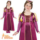 Tudor Girl Costume Child Maid Marion Princess Fancy Dress Outfit Book Week