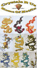 FABRIC CHINESE DRAGONS IRON-ON DIY GOTHIC GARMENT TSHIRT APPLIQUE TRANSFER PATCH