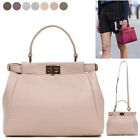 CELEBRITY PEEKABOO STYLE MINI SMALL TOTE SHOULDER CROSS BAG REAL COWHIDE LEATHER