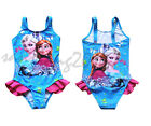 2015 Frozen Kids bikini Swimwear one-piece swimming suit Girls Swimsuit Tankini