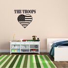 The Troops Army Flag Heart Wall Decal - Vinyl Decal - Car Decal - CF015