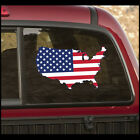 United States American Flag Wall Decal - Vinyl Decal - Car Decal - CFCOLOR012