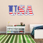 USA American Flag Wall Decal - Vinyl Decal - Car Decal - CFCOLOR008