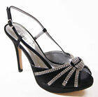 LADIES WOMENS PEEP TOE HIGH HEEL PLATFORM PARTY PROM WEDDING BRIDAL SHOES SIZE
