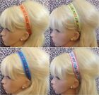 FLORAL EMBROIDERED FOLK PRINT RIBBON BOHO BANDEAUX HEADBAND HAIR BAND STRETCH
