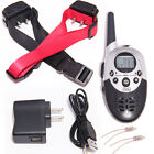Rechargeable Waterproof 1or 2 Dog Shock Training Collar Remote 1000 Yard Hunting