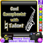 Sax Alto Cool Player With Natural Talent - Sheet Music Custom Bag by MusicaliTee