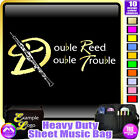 Oboe Double Reed Double Trouble - Sheet Music & Accessories Bag by MusicaliTee