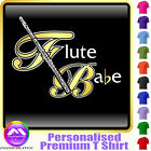 Flute Babe - Personalised Music T Shirt 5yrs - 6XL by MusicaliTee