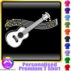 Ukulele Curved Stave - Personalised Music T Shirt 5yrs-6XL MusicaliTee 2