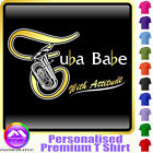 Tuba Babe With Attitude - Personalised Music T Shirt 5yrs - 6XL by MusicaliTee