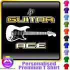 Electric Guitar Ace - Personalised Music T Shirt 5yrs-6XL MusicaliTee 2