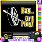 Bodhran Pay or I Play - Sheet Music & Accessories Custom Bag by MusicaliTee
