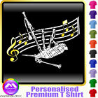 Bagpipe Curved Stave - Personalised Music T Shirt 5yrs - 6XL by MusicaliTee